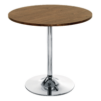 Arista Walnut and Chrome Small Bistro Trumpet Table KF838318