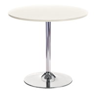 Arista Small Bistro Trumpet Table White KF838544