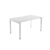 Arista 1200mmx800mm Bench Desking System 1 Person Starter Kit White KF838595