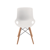 Jemini 4 Leg Wire Base Breakout Chair White KF838764