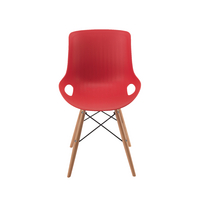 Jemini 4 Leg Wire Base Breakout Red Chair KF838765