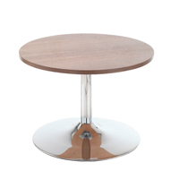 Arista Low Bistro Table With Trumpet Base Walnut KF838814