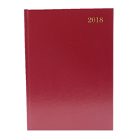 A5 Day/Page Appointments 2018 Burgundy Desk Diary KFA51ABG18