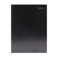 A5 Week to View 2018 Black Desk Diary KFA53BK18