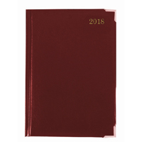 Executive Diary A4 Day/Page 2018 Burgundy KFEA41BG18