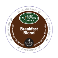 Green Mountain Coffee Breakfast Blend Pods (Pack of 24) 93-07003