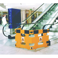 Barrier/Sign System Set of 3 Frames Yellow 309608 (Pack of 3)