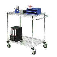2-Tier Chrome Mobile Trolley 373003