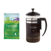 Taylors Lazy Sunday Coffee 45g Pouches With Free Cafetiere TH838004