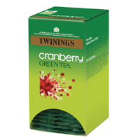 Twinings Cranberry Green Tea Bags (Pack of 20) F08046
