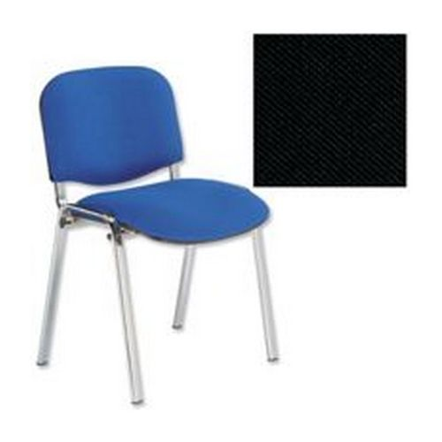 Trexus Stacking Chair Chrome Frame Black              438208