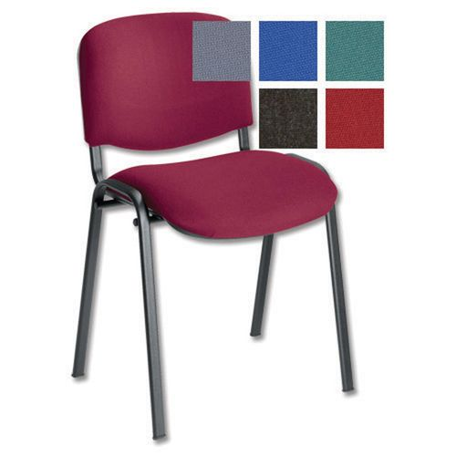 Initiative Stacking Chair Burgundy                    431720