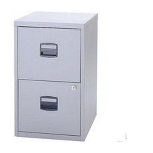 Bisley A4 Homefiler 2 Drawer Lockable Goose Grey     PFA2-87