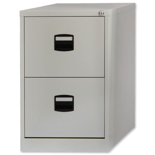 Trexus Steel Filing Cabinet 2 Drawer Goose Grey       394992