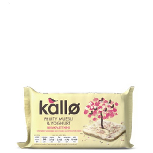 Kallo Fruity Muesli & Yogurt Breakfast Thins 90g      A07901