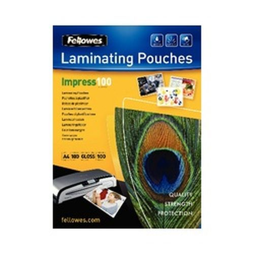Fellowes A4 100 Micron Laminating Pouches Pack 100   5351111