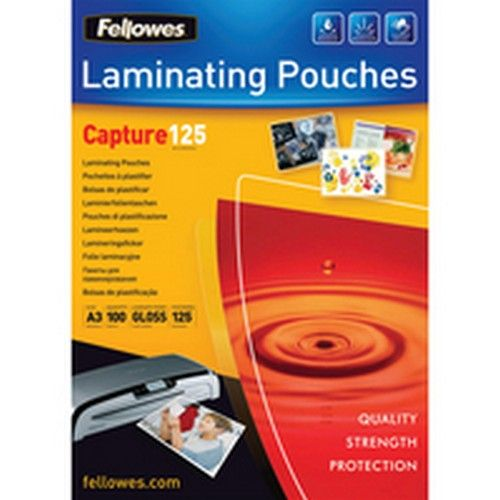 Fellowes A3 125 Micron Laminating Pouches Pack 100   5307506