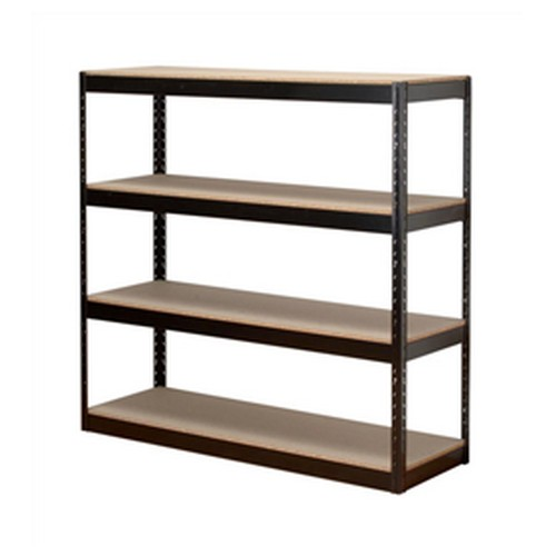 Influx Archive Shelving Unit Heavy-Duty 4 Shelves Black
