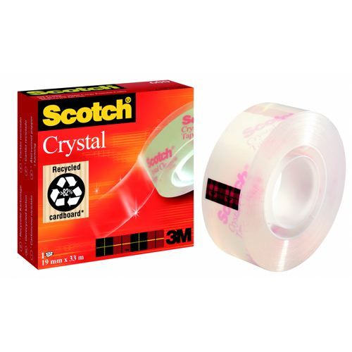 Scotch Crystal Clear Tape 19mm x33 Metres 600        6001933