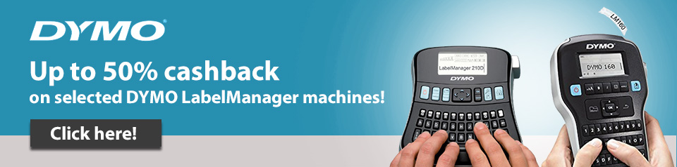 Up to 50% cashback on Dymo LabelManagers Banner Image