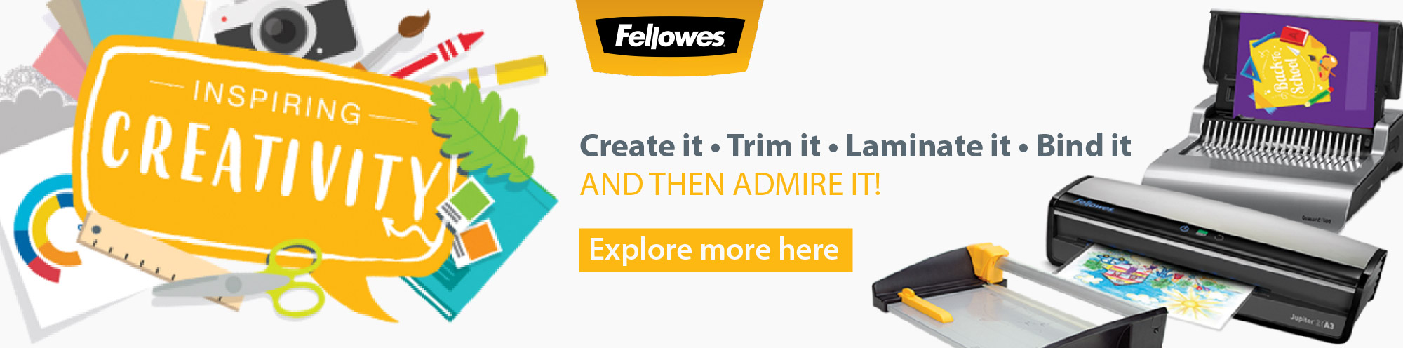 Inspiring Creativity with Fellowes Banner Image