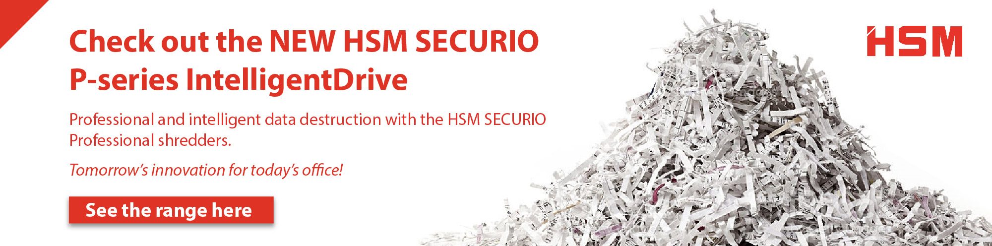 NEW HSM Securio P-series IntelligentDrive Banner Image