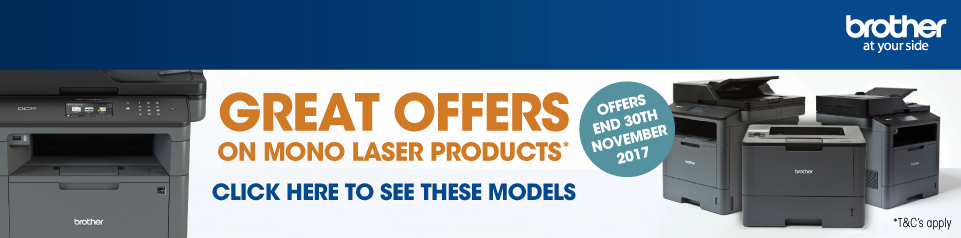 Brother Mono Laser Printers Banner Image