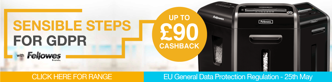 Up to £90 Cashback with Fellowes! Banner Image