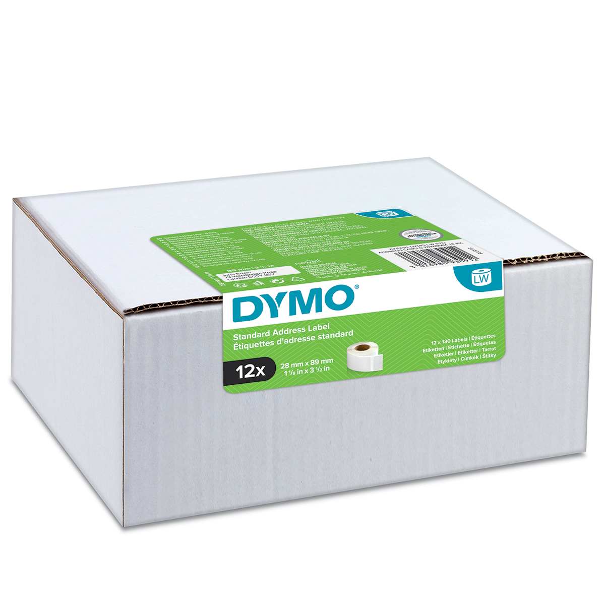 Dymo 2093091 LW Standard Address Labels 28 x 89mm 12 pack