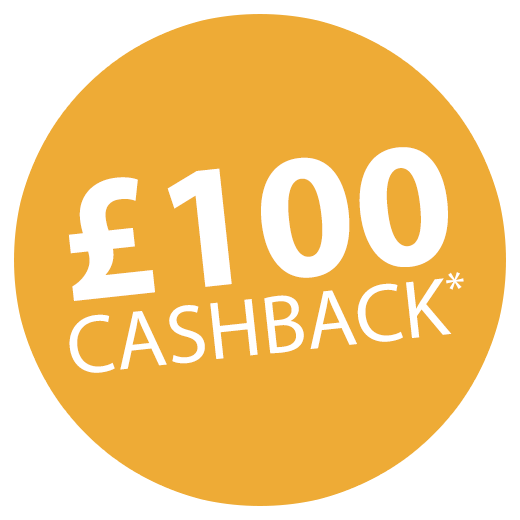 £100 Cashback when bought with a set of inks! Icon