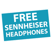 FREE Sennheiser headphones or earphone! Icon