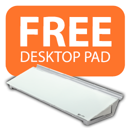FREE 'Diamond Glass' Desktop Pad with these Nobo whiteboards! Icon