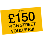 Up to £150 shopping vouchers! Icon