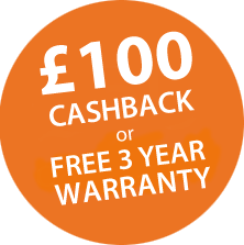 £100 Cashback or FREE Warranty on Brother Printers Icon