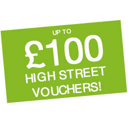 Up to £100 Shopping Vouchers! Icon