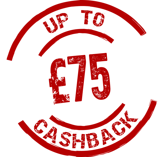 Up to £75 cashback! Icon