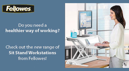 Fellowes Sit Stand Banner Image