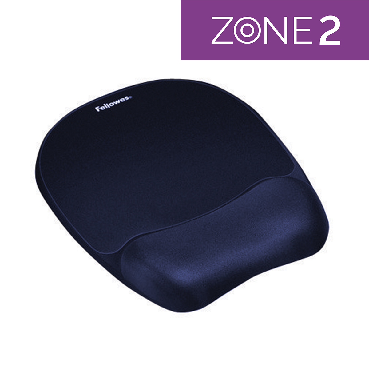 Fellowes 9172801 Memory Foam Wrist Rest and Mousepad Sapphire