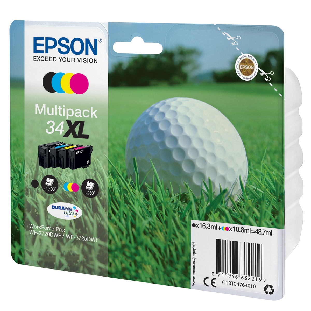 Epson 34XL Multipack 4 Ink Durabrite Ultra Cartridges