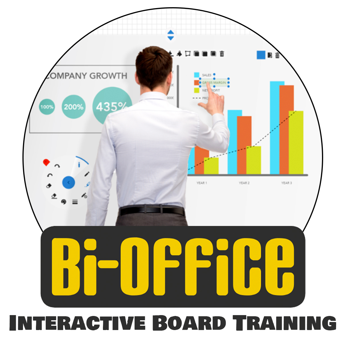 Bi-Office Interactive Board Training for up to 10 people