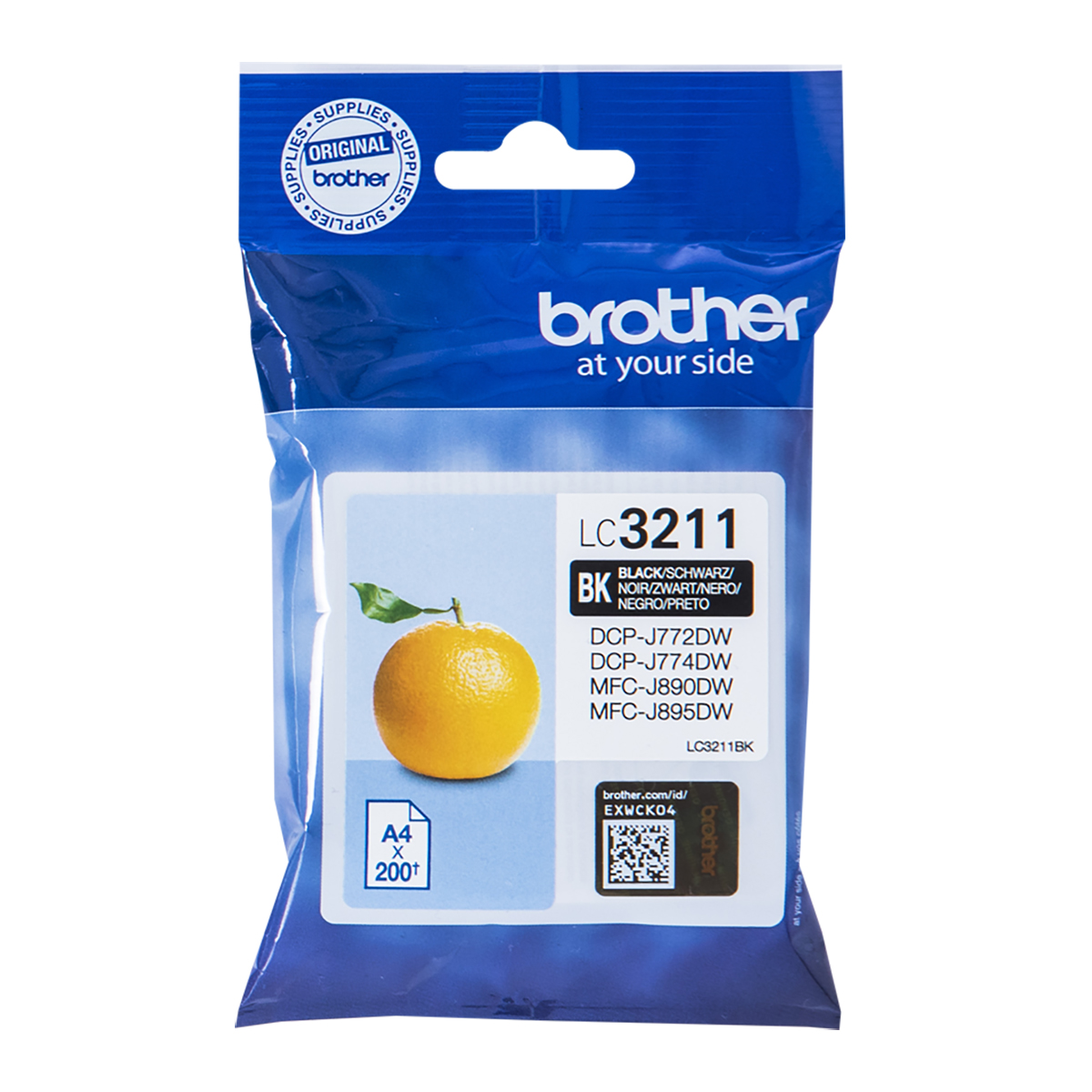 Brother LC3211BK Standard Yield Black Ink Cartridge