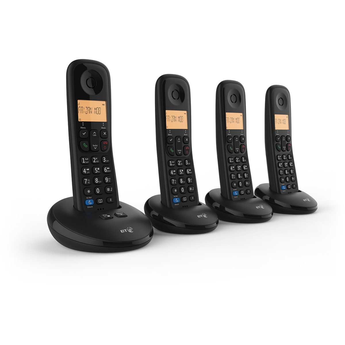 BT Everyday Quad Dect Call Blocker Telephone with Answer Machine
