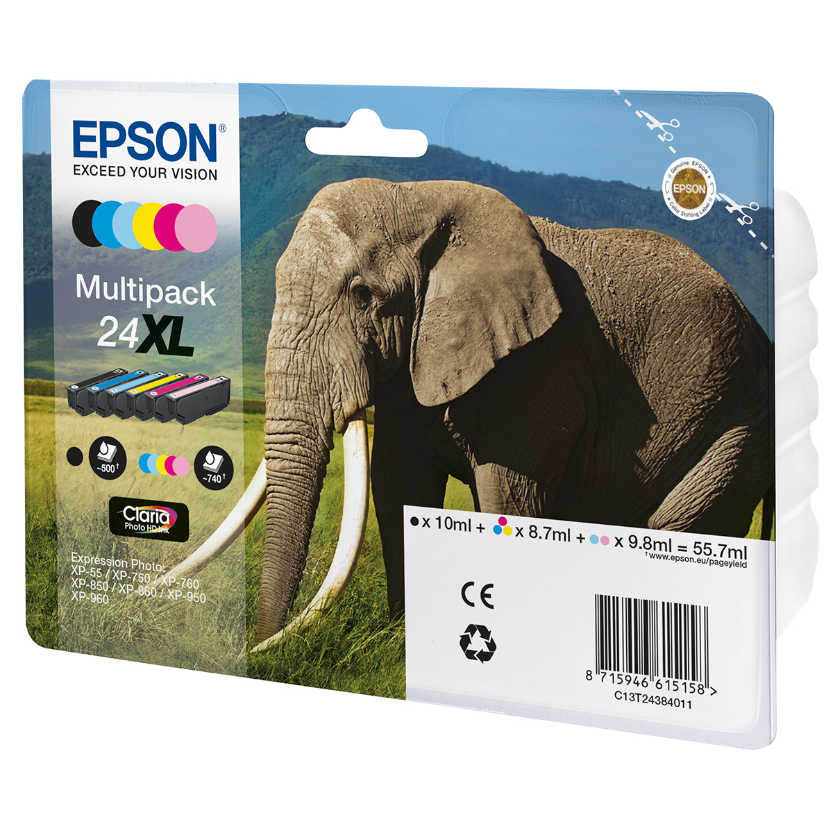 Epson 24XL Multipack 6 Ink Photo HD Cartridges