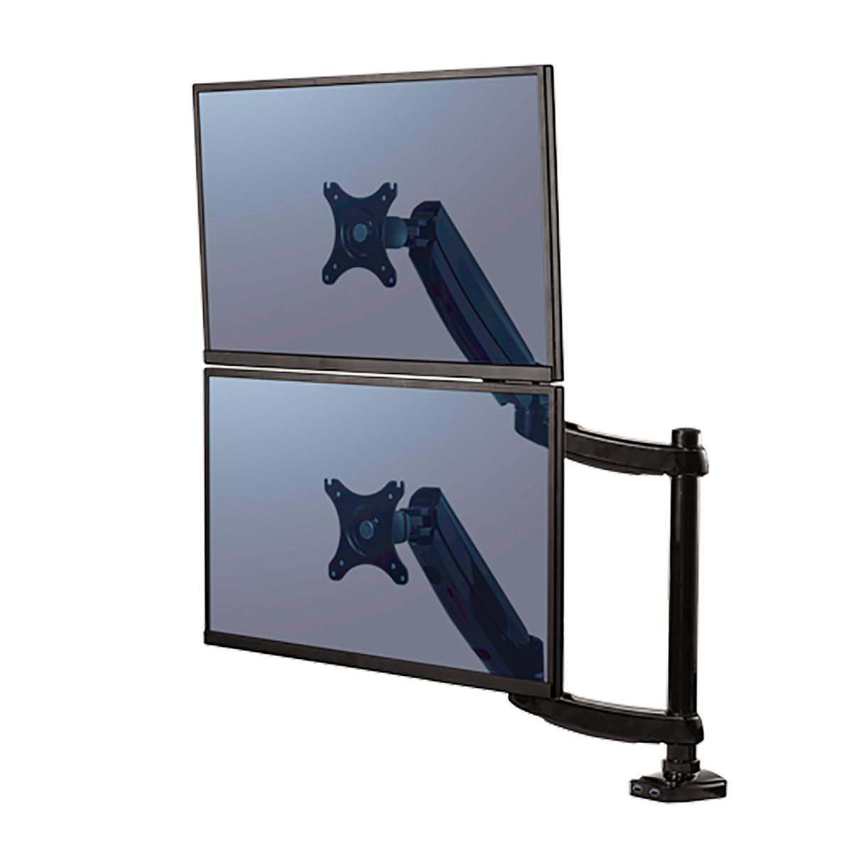 Fellowes 8043401 Platinum Series Dual Vertical Monitor Arm