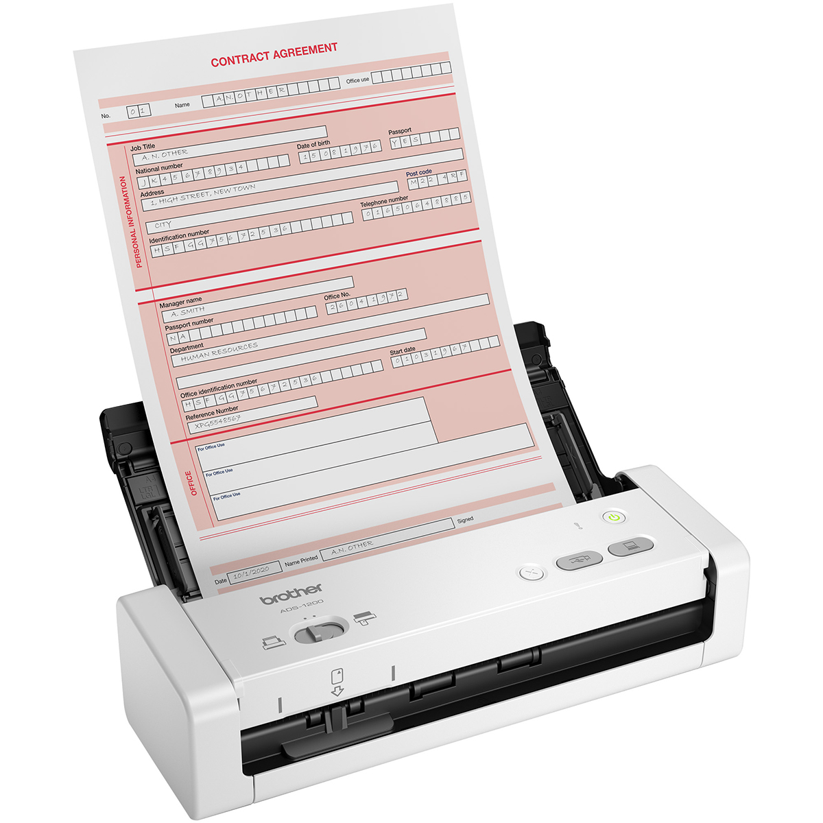 Brother ADS-1200 Portable Compact Document Scanner