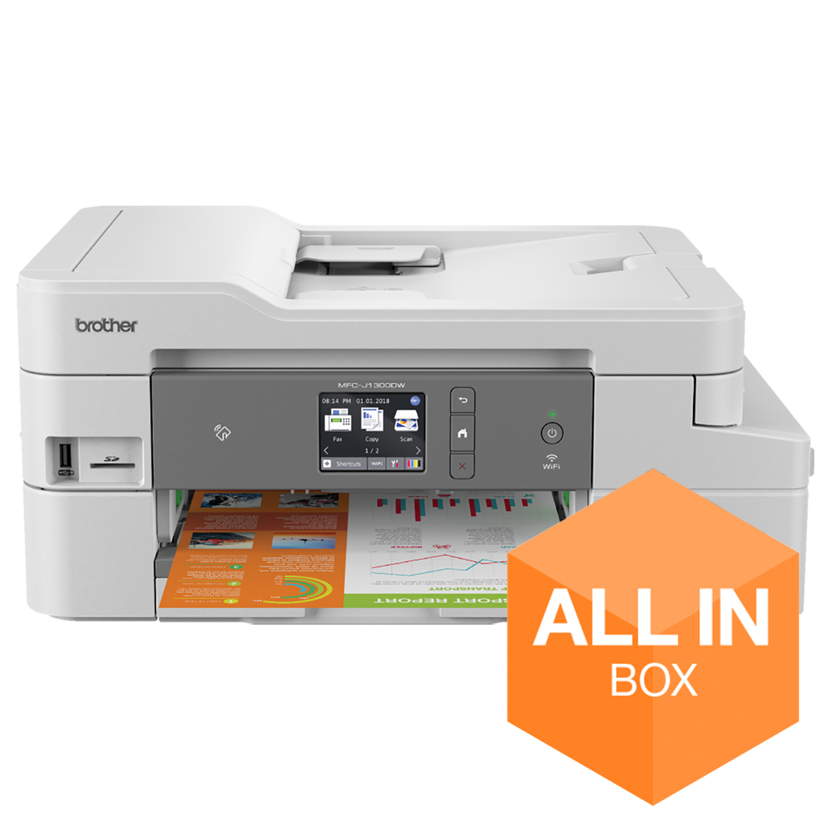 Brother MFC-J1300DW All in Box A4 Colour Inkjet Multifunction