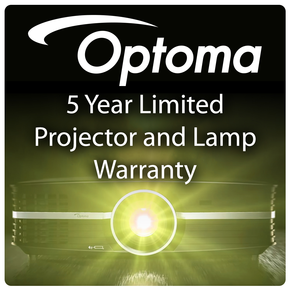 Optoma 5 Year Limited Projector and Lamp Warranty