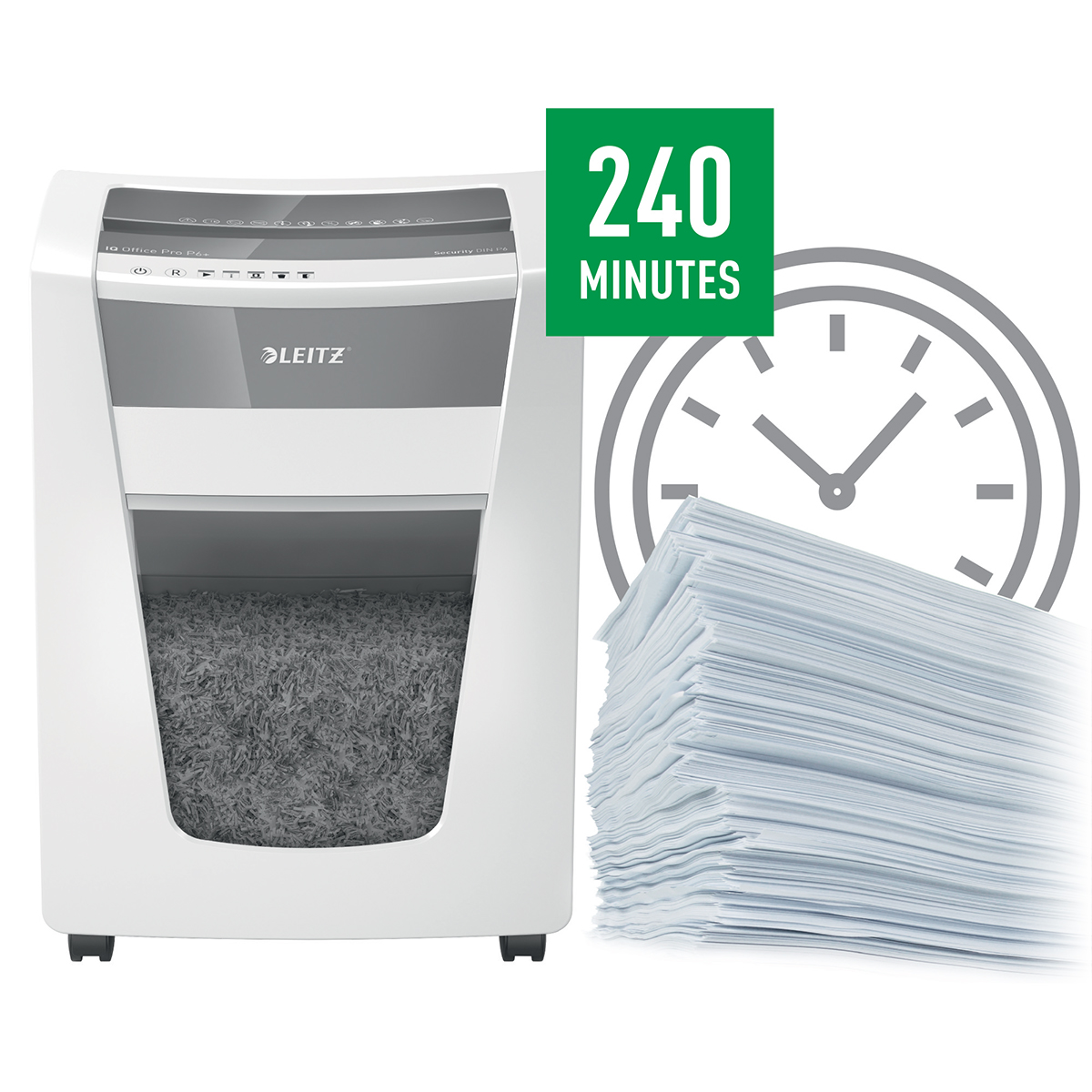 Leitz IQ Office Pro Super Micro Cut Shredder P6