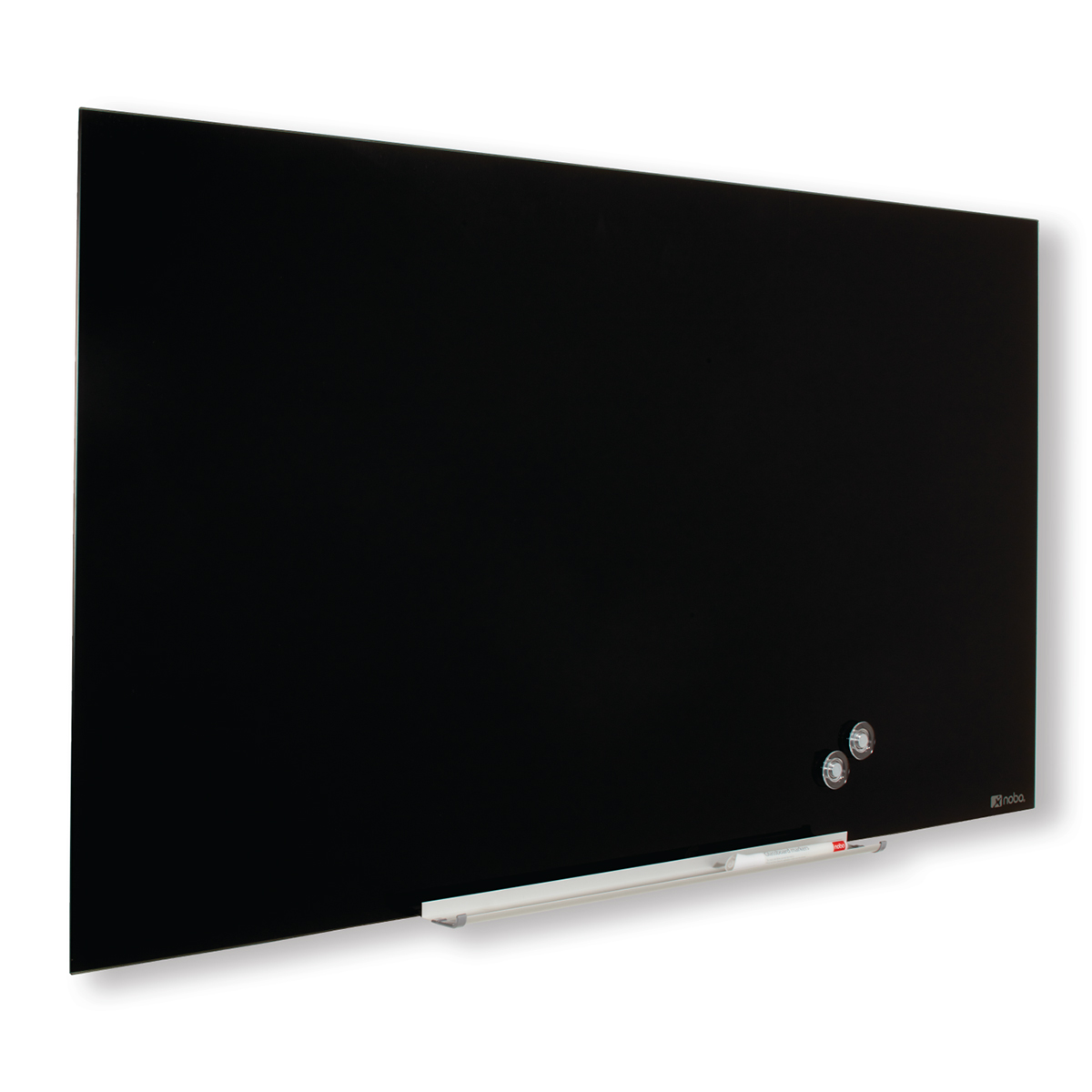 Nobo 1905180 Black Diamond Glass Whiteboard 993 x 559mm