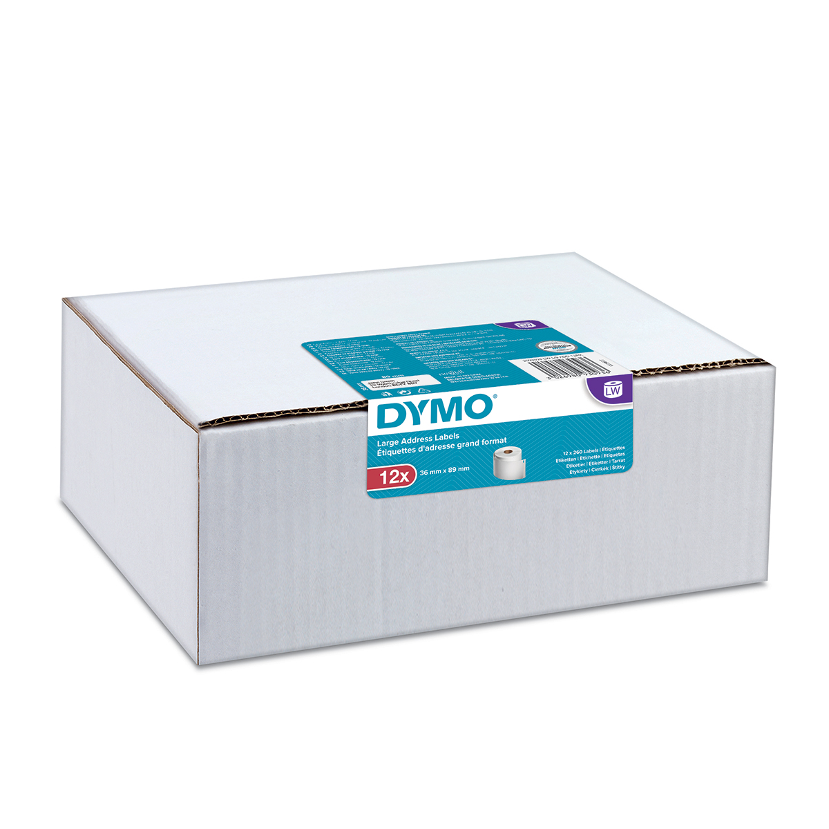 Dymo 2093093 LW Large Address Labels 36 x 89mm 12 pack